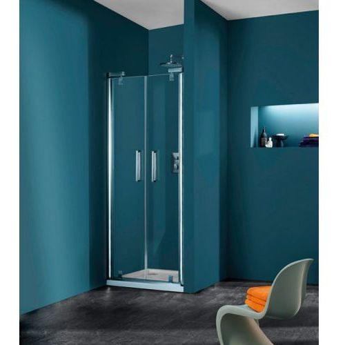 Huppe Refresh Pure Drzwi prysznicowe wahadłowe do wnęki - 100/204 biały Szkło Karo Anti-Plaque 9P0908.055.