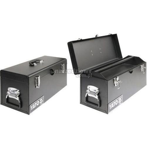 Towar z kategorii: skrzynki i walizki narzędziowe - YATO Skrzynka narzędziowa, metalowa 510x220x240 mm
