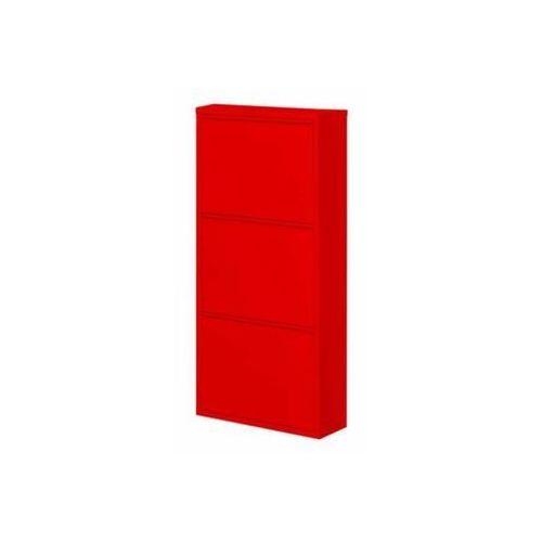 Szafka na buty HOME HB3 - czerwony połysk, marki AllHall do zakupu w Meble Pumo