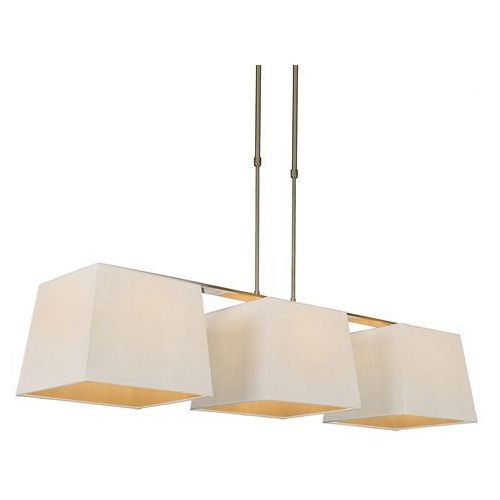 Lampa wisząca Combi Delux 3 klosz kwadratowy 30cm biały - sprawdź w lampyiswiatlo.pl