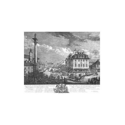 Widok Krakowskiego Przedmieścia w Warszawie B. Belotto zw. Canaletto, 1771 r., produkt marki Golden Maps Publishing
