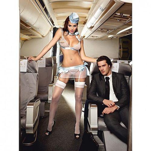 Przebranie stewardessa - Baci First Class Flight Attendant One Size - oferta [0532487017b555b5]