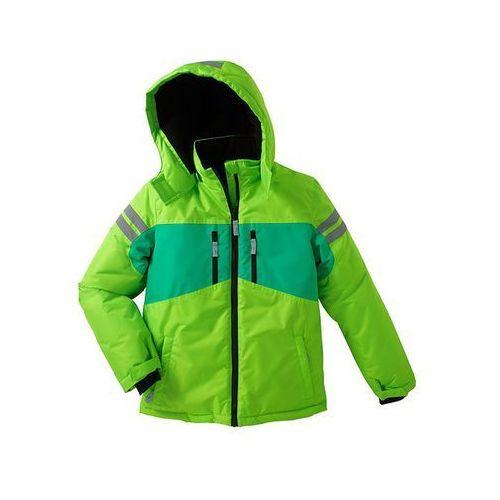Kurtka zimowa termoaktywna  zielony neonowy - czarny, bonprix z bonprix