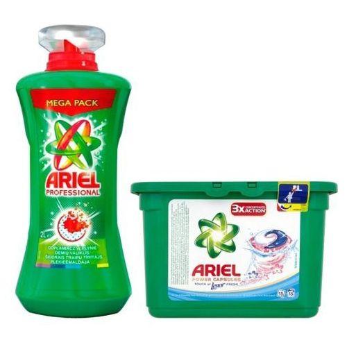 Towar z kategorii: wybielacze i odplamiacze - ARIEL 2l Professional Odplamiacz + Kapsułki do prania (15 prań