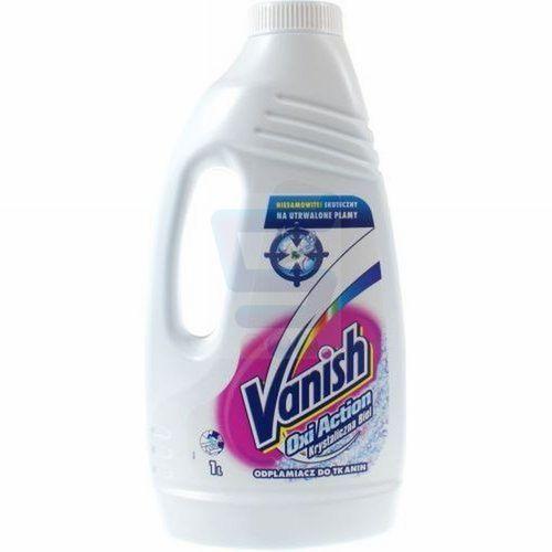 Vanish Oxi Action Odplamiacz w płynie Krystaliczna Biel 1 L (wybielacz i odplamiacz do ubrań) od Super Koszy