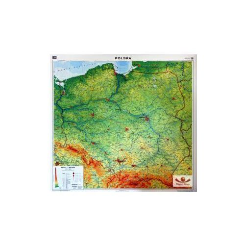 Produkt Polska. Mapa ścienna Polski, ogólnogeograficzna / do ćwiczeń, marki Nowa Era