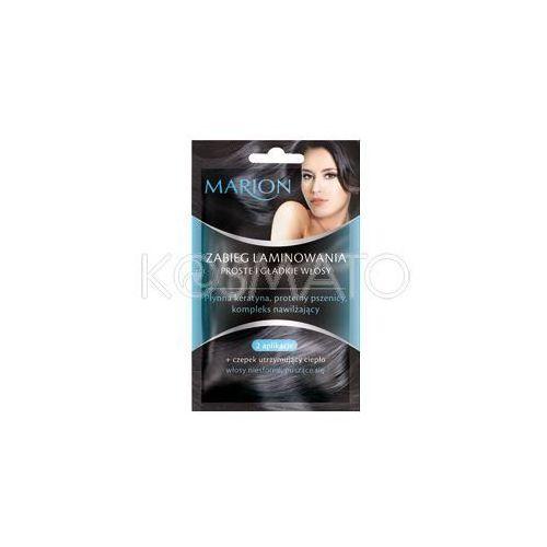 Produkt z kategorii- pozostałe kosmetyki do włosów - Marion Zabieg laminowania, proste i gładkie włosy, 2 x 10 ml