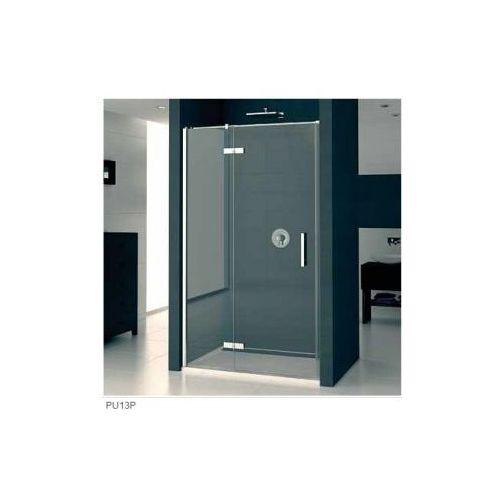 SANSWISS PUR Drzwi jednoczęściowe ze ścianką stałą w linii, montaż z profilem przyściennym PU13P (drzw
