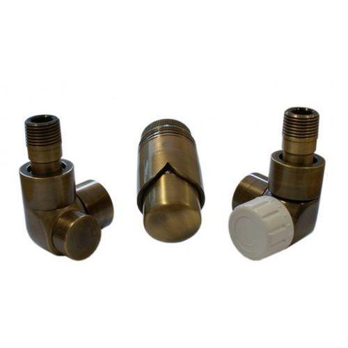 Instal-projekt Grzejnik  603700082 zestawy łazienkowe lux gz ½ x złączka 15x1 stal kątowy antyczny mosiądz, kategoria: pozostałe ogrzewanie