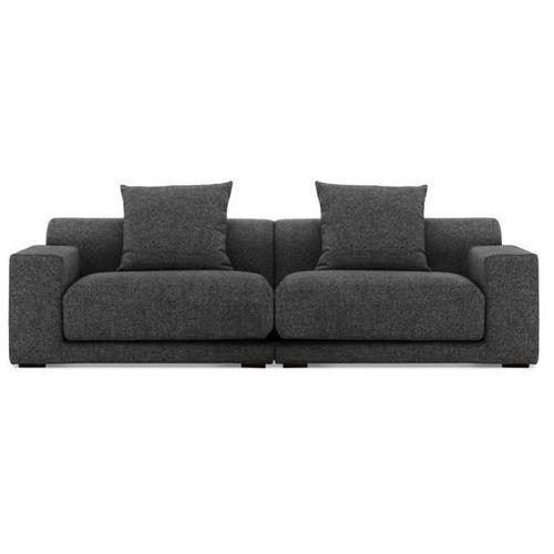 Sofa - 2,5-osobowa - tapicerowana - grafit - CLOUD, Beliani