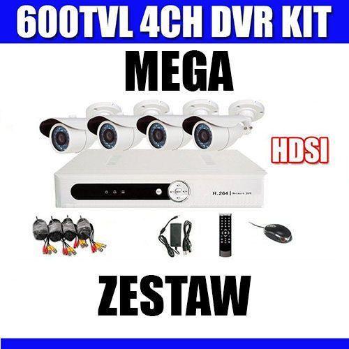 Zestaw rejestrator cyfrowy h.264+4  wyprodukowany przez Kamery