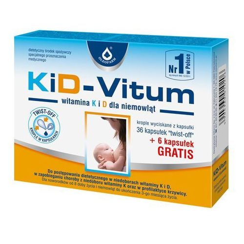 KiD-Vitum Wit. K i D twistoff 36 kaps., postać leku: kapsułki