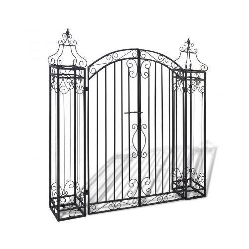Brama wjazdowa żelazna zdobiona, produkt marki vidaXL