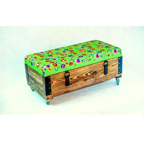Pufa, siedzisko, skrzynia,  - zieleń, marki Wood You Like do zakupu w MYBAZE