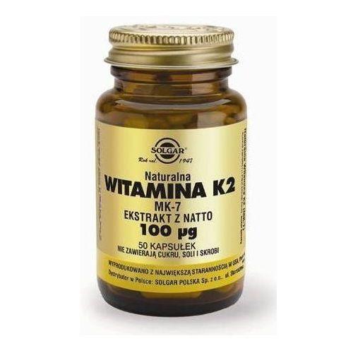 SOLGAR Witamina K2 naturalna 50 Kapsułek, postać leku: kapsułki