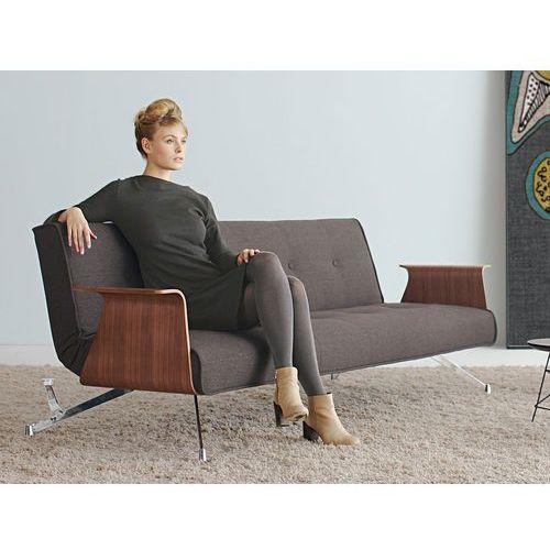 Istyle Clubber, Sofa Rozkładana, podłokietniki, brązowa tkanina 523 - 742041523-0-pod