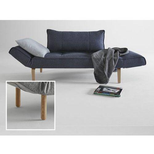 Sofa Zeal granatowa 515 nogi jasne drewno Stem  740021515-2-740022-1, INNOVATION iStyle