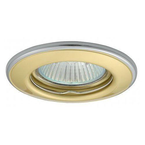 Kobi Oprawa oprawka led halogenowa stała okrągła kolor mosiądz/chrom OH114 4297 z kategorii oświetlenie