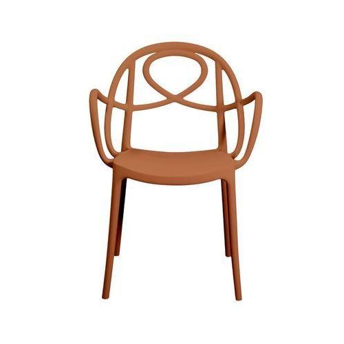 Krzesło ogrodowe Green Etoile P pomarańczowe ze sklepu All4home