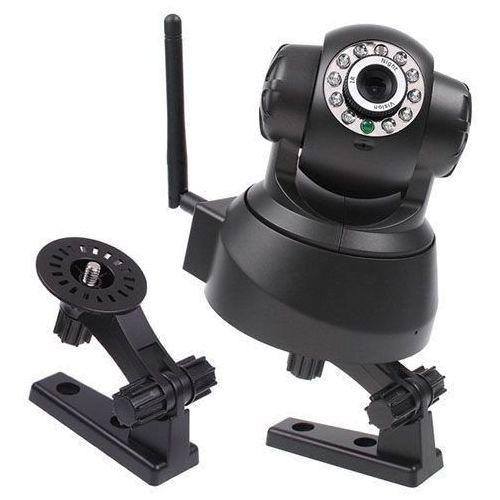 Czarna internetowa kamera noktowizor wifi ip gwara wyprodukowany przez Kamery