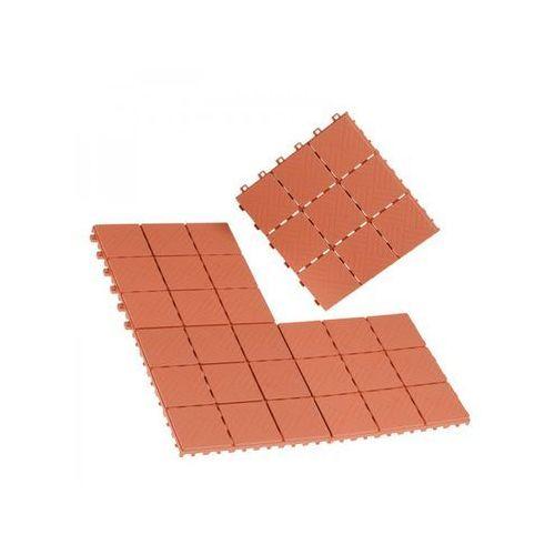 Płytki podłogowe w optyce terakoty, 12 elementów - oferta [25b3437df7b575da]