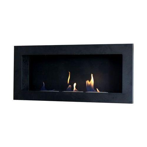 Biokominek dekoracyjny prostokątny Flat (czarny) EcoFire - oferta [1532ee0111121580]