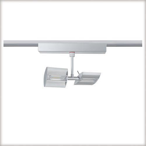 Linear LED spot do Urail 2x6W 230V chrom mat, metal z kategorii oświetlenie