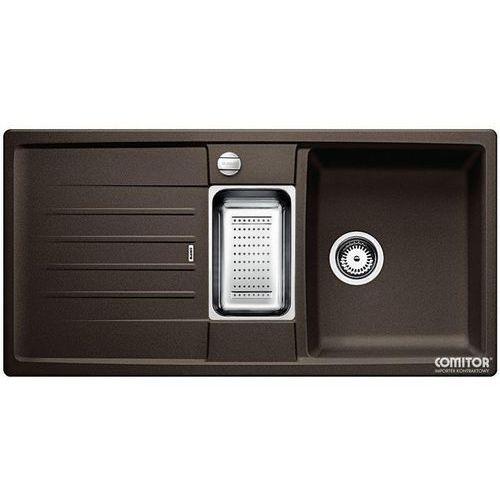 Zlew BLANCO LEXA 6S KAWOWY (korek automatyczny, odsączarka stalowa) 515060 //zamów wycięcie otworów gratis