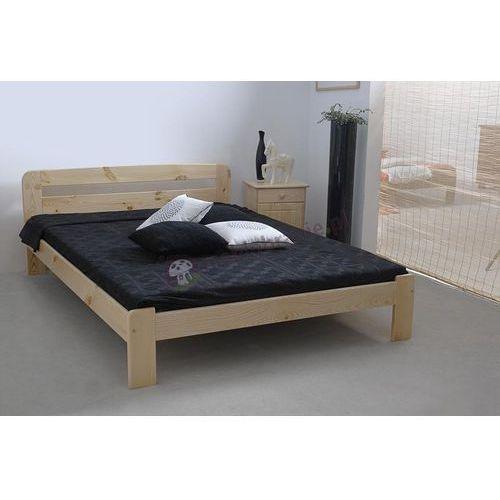 Łóżko drewniane 140 cm Saranda ze sklepu Meblobranie.pl