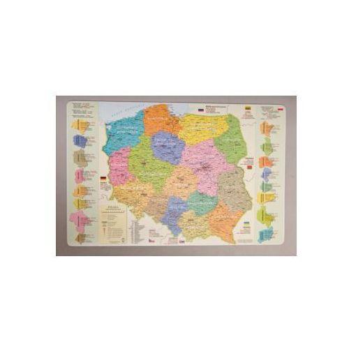 Podkładki na biurko: mapa administracyjna Polski od Księgarnia Emulus.pl