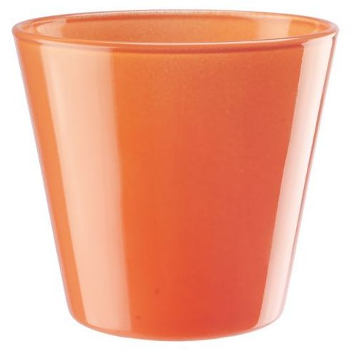 Osłonka szklana średnica 14 cm, pomarańczowa, produkt marki Galicja