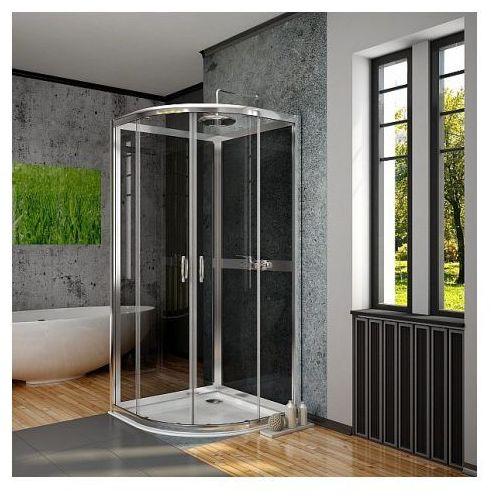 Premium Plus 2S Radaway Komplet ścianek tylnych 80x80 szkło fabric 33443-01-06N (drzwi prysznicowe)