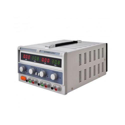Zasilacz z potrójnym wyjściem, 4 wyświetlacze LED 30V 5A z kategorii Transformatory
