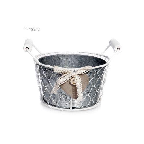 Pojemnik metalowy okrągły z serduszkiem, mała, produkt marki Inne marki