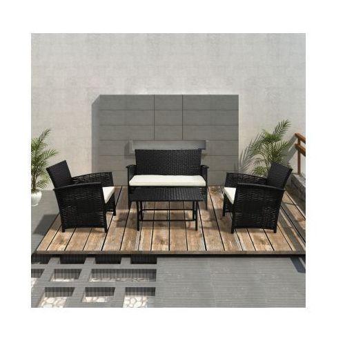 Rattanowe meble ogrodowe, zestaw składa się z 4 elementów, produkt marki vidaXL
