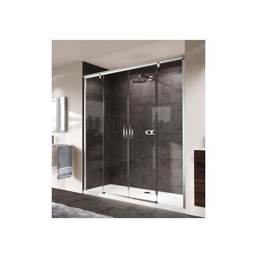 HUPPE AURA ELEGANCE 4-kąt Drzwi suwane 2-częściowe ze stałymi segmentami 402101 (drzwi prysznicowe)