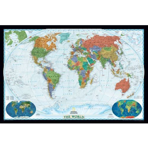 Świat. Mapa ścienna polityczna Decorator 1:22,5 mln wyd. , produkt marki National Geographic