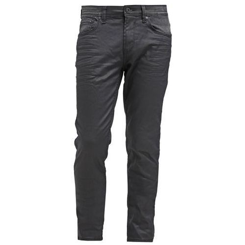 Tom Tailor Denim CULVER Jeansy Slim fit coated black denim - produkt z kategorii- spodnie męskie