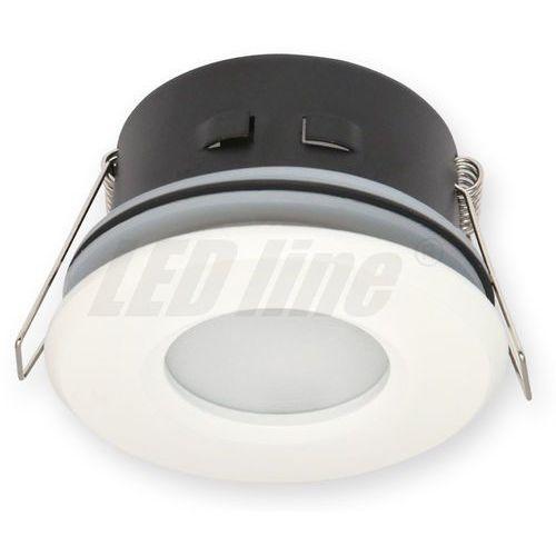 LED line Oprawa oprawka led halogenowa wodoodporna stała okrągła kolor biały IP65 245428 z kategorii oświetlenie