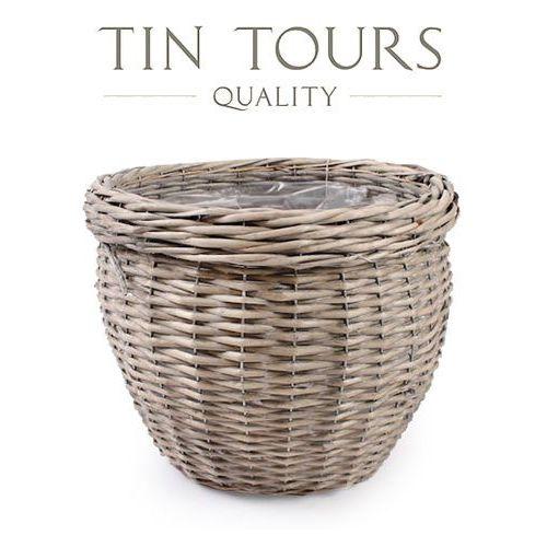 Produkt OSŁONKA WIKLINOWA NA DONICZKĘ 37x37x30 cm, marki Tin Tours Sp.z o.o.
