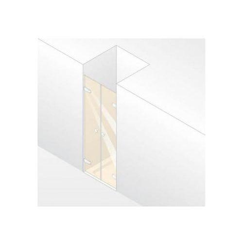 Huppe Enjoy Elegance Drzwi wahadłowe do wnęki - 90/200cm chrom eloxal Szkło Privatima Anti-Plaque 3T2402092