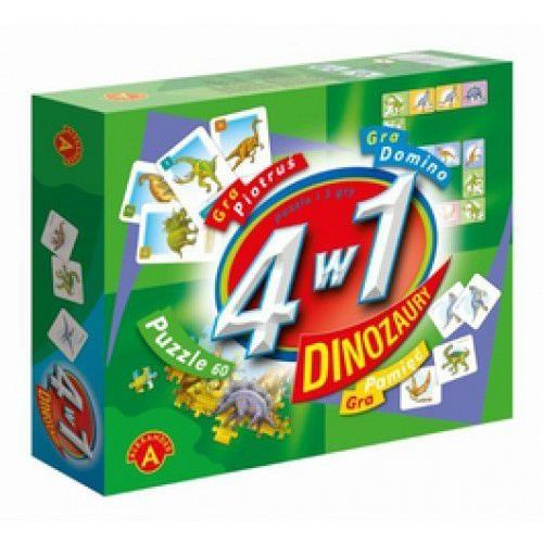 Oferta 4 w 1 Dinozaury Puzzle i 3 gry - Dostawa zamówienia do jednej ze 170 księgarni Matras za DARMO [255ad7aabfb38332]