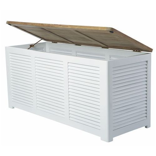 Skrzynia-pojemnik Cinas biały-teak 50x130x60 cm - sprawdź w All4home