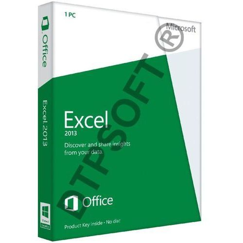 Microsoft Excel 2013 32-bit/x64 Medialess PL Win - produkt z kategorii- Pozostałe oprogramowanie