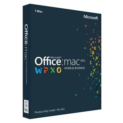 Microsoft Office Home and Business 2011 MAC MultiPack (2 MAC) z kategorii Programy biurowe i narzędziowe