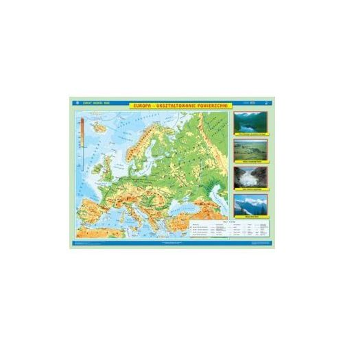 Produkt Europa. Mapa ścienna Europy. Ukształtowanie powierzchni / Krajobrazy., marki Nowa Era