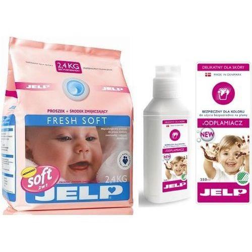 Zestaw JELP: Proszek Fresh Soft biel 2,4kg + Odplamiacz 250ml, Jelp z Bliżej Ciebie