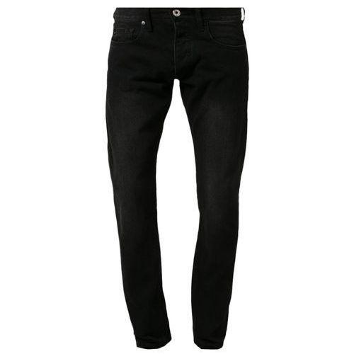 Produkt z kategorii- spodnie męskie - Quiksilver REVOLVER BLACK Jeansy Straight leg czarny