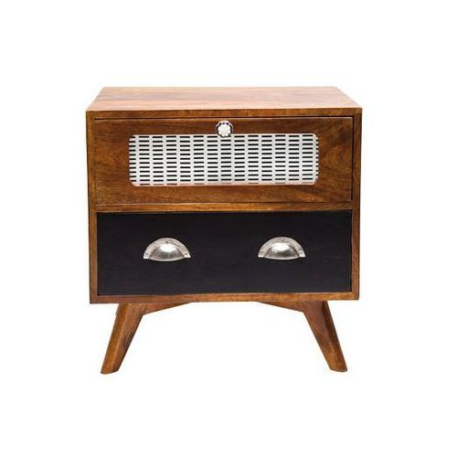Babalou Designerski Drewniany Stolik Nocny Drewno Mango lakierowone 50x40cm - 77801