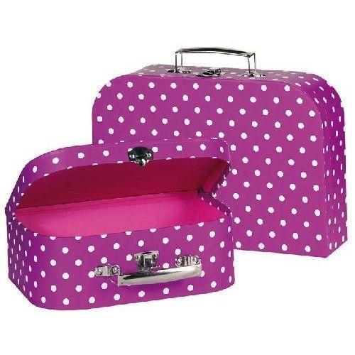 Zestaw walizek w kropki dla dzieci - produkt dostępny w www.epinokio.pl